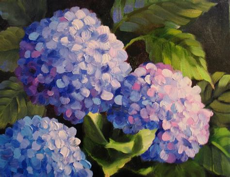Nel S Everyday Painting Triple Hydrangeas And A Lesson Sold | nel s everyday painting triple hydrangeas and a lesson sold