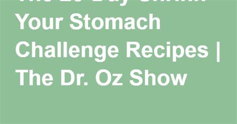 Sugar Detox Challenge Today Show by The 28 Day Shrink Your Stomach Challenge Recipes The Dr