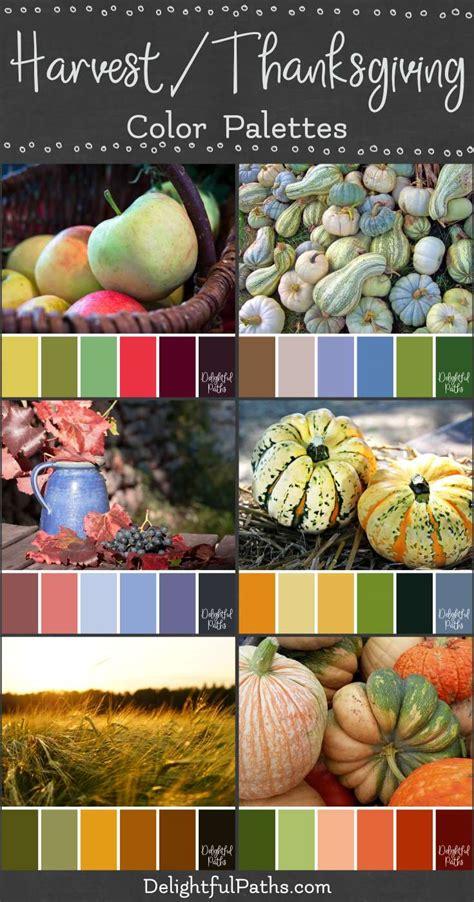 harvest colors harvest thanksgiving inspired color palettes