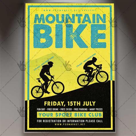 Mountain Bike Event Premium Flyer Psd Template Psdmarket Bike Flyer Template Free
