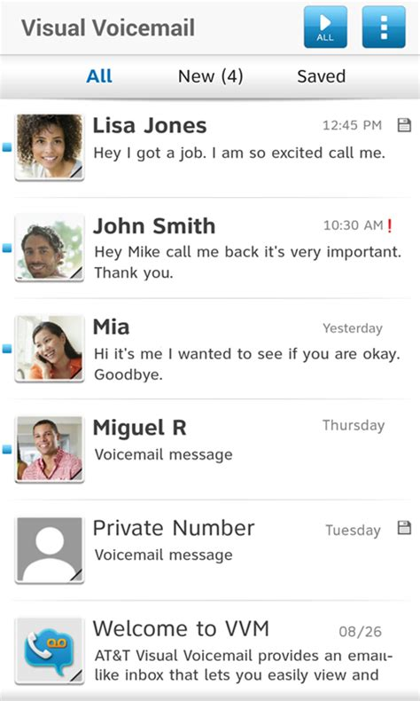 how to save voicemails on android at t visual voicemail android apps on play