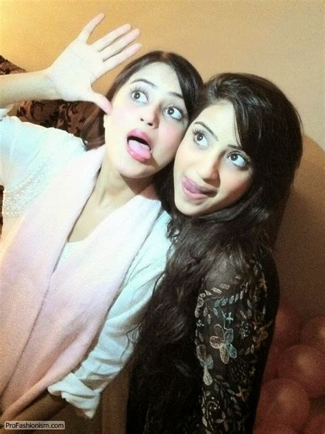 sajal ali family sajal ali with her family new pictures b g fashion