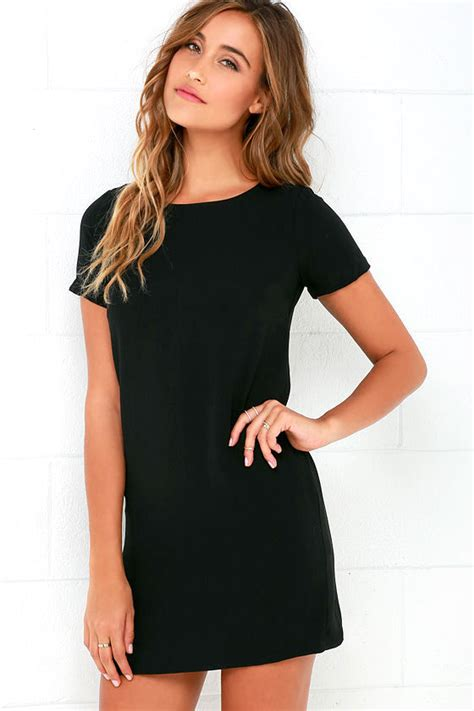 Vacia Simply Black S M Dress chic black dress shift dress sleeve dress 48 00