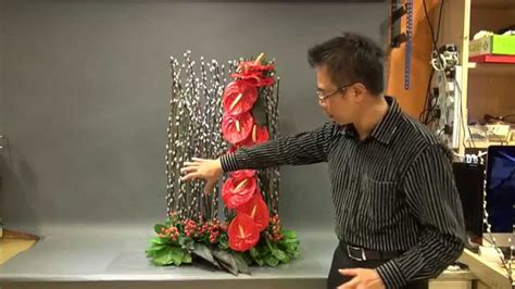new year floral design b121 大型賀年花藝創作 creative floral design for new year