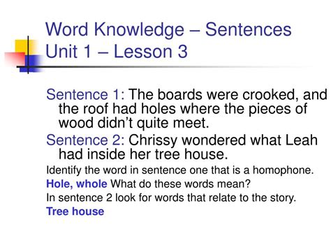 Cupola In A Sentence Ppt Unit 1 Lesson 5 The Tree House By Lois Lowry