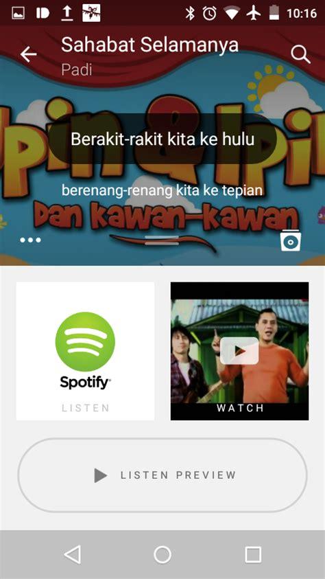 Tombol Pencet Sing 4 aplikasi android untuk mengetahui judul lagu yang sedang