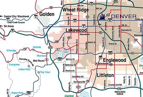 map of denver area denver metro