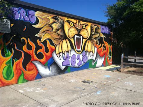 Wall Mural Painting Ideas senior sidewalk class of 13 begins new tradition to