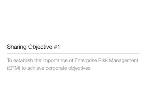 Florida State Mba Risk Management by Erm Workshop