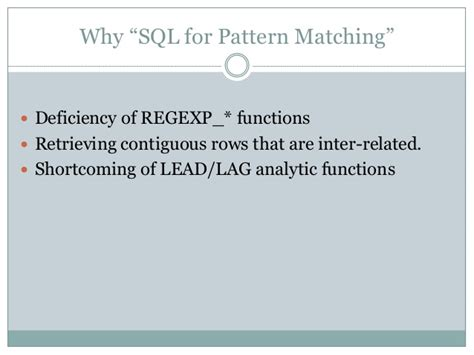 Pattern Matching Empty String | sql for pattern matching oracle 12c