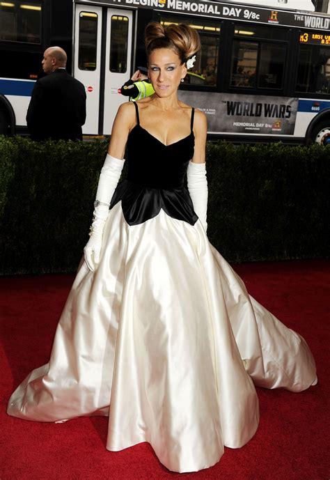 sarah jessica parker  oscar de la renta gown   met