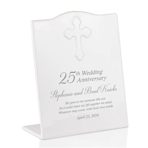 25th Wedding Anniversary Gifts by Personalized 25th Wedding Anniversary Ceramic Keepsake Plaque