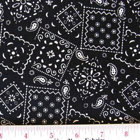 pattern black fabric cotton fabric pattern fabric blazin bandanas black