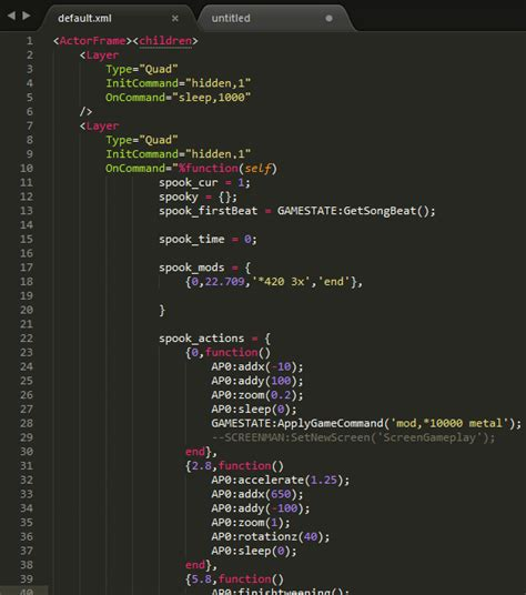 format xml sublime how do i get lua syntax highlighting inside of xml quotes