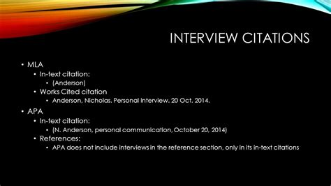 apa format interview today s goals take a closer look at interviews as a