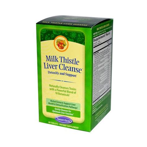 Symptoms Of Liver Detox Diet by Nature S Secret Milk Thistle Liver Cleanse 60 Tablets