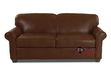 Calgary Sofa Bed Ship Calgary Leather In Abilene Chestnut By