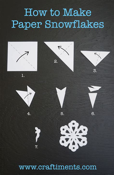 Steps To Make A Paper Snowflake - craftiments how to make paper snowflakes