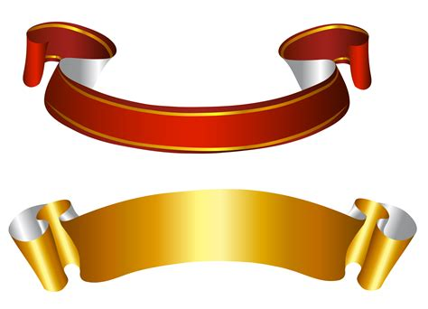 ribbon png ribbons and gold on pinterest gold and red banners transparent png picture баннер