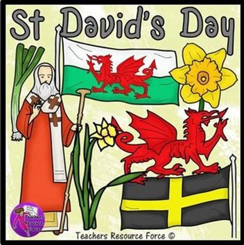 Church For St Davids Day by Flag Clipart 43