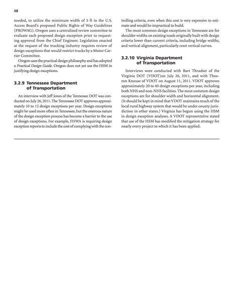 design exception criteria section 3 design exception practices evaluation of the