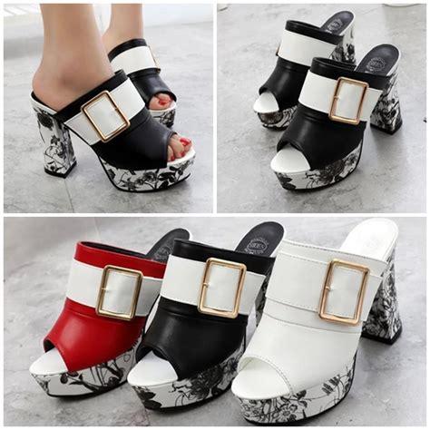 New High Heels Brukat 11cm Black Sepatu Wanita Sandal jual shh936 black sepatu heels fashion 11cm grosirimpor