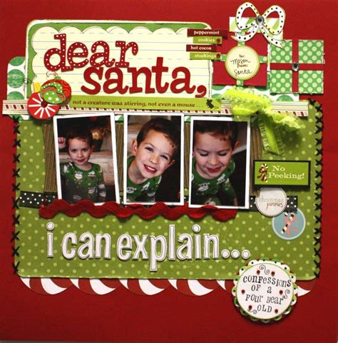 christmas themed scrapbook layout cute quot dear santa quot scrapping page scrapbook page ideas