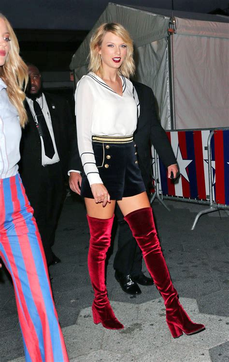 taylor swift red velvet thigh high boots newhairstylesformen2014 com the shoe trend taylor swift rihanna and gigi hadid are