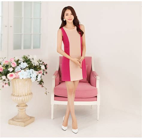 Impor Import Murah Pink 57401815 mini dress import lengan buntung pink model terbaru
