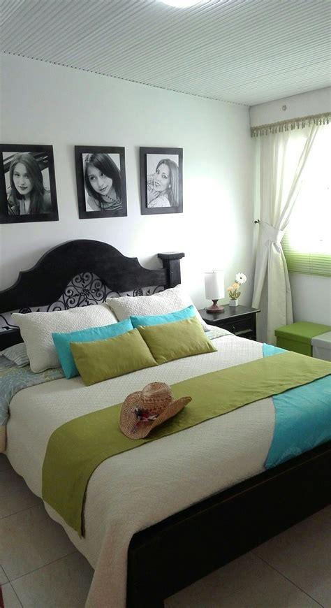 habitacion principal pequena cama matrimonial rustica