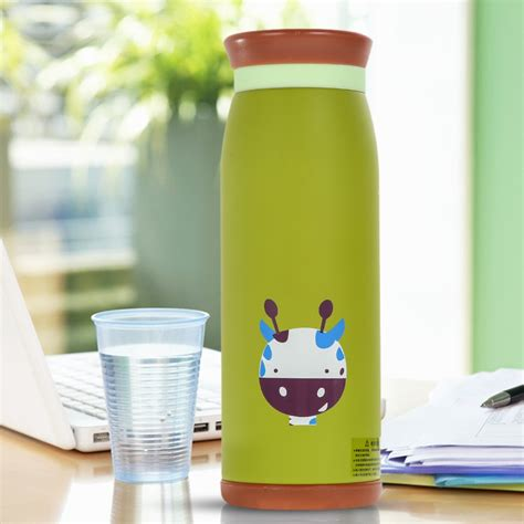Termos Karakter Lucu Vacuum Tumbler colourful thermos insulated mik water bottle 500ml green jakartanotebook