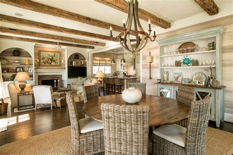 Nook Dining Room Sets natural beach house rooms to love distinctive cottage