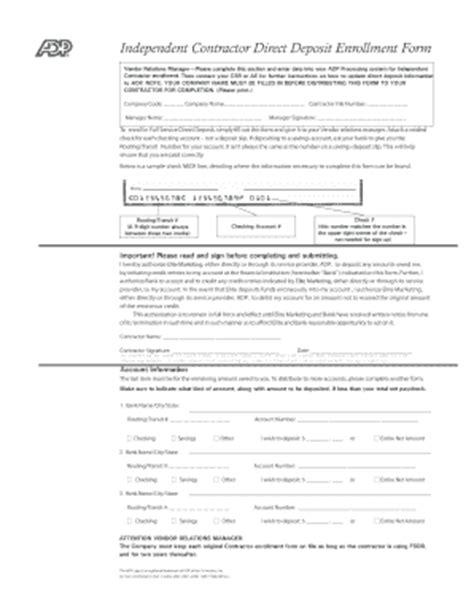 fillable online adp dd enrollment form fax email print