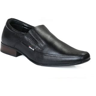 Minarno Black Leather Slip On 001 chief black slip on formal leather shoes rc5010