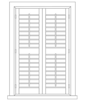 avery 8987 template height shutters
