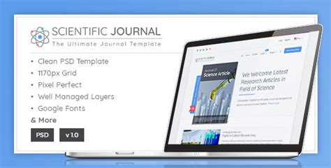 design scientific journal psd files photoshop templates from themeforest
