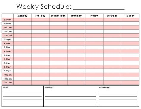 daily hourly planner template daily hour calendar template i