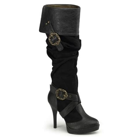 pleaser carribean 216 steunk buckle boots funtasma by