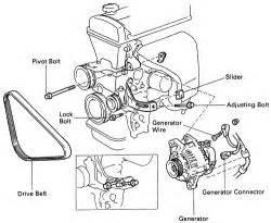 1989 toyota corolla replace alternator electrical problem 1989