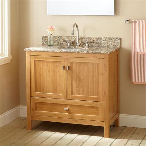 Vanity In Bathroom by 36 Quot Narrow Depth Alcott Bamboo Vanity For Undermount