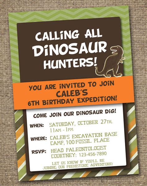 dinosaur invitation templates freebie friday free dinosaur printables