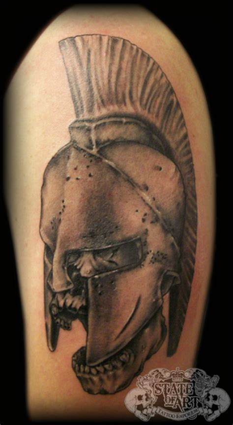 spartan quarter sleeve tattoo helmet shield and banner tattoos on half sleeve 187 tattoo ideas