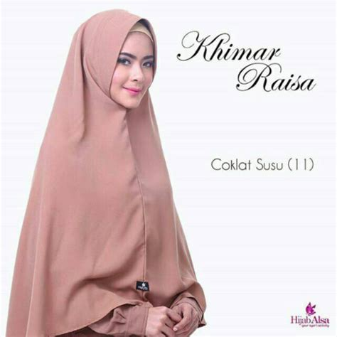 Khimar Raisa alsa khimar raisa syar i warna pastel bergo jilbab instan jumbo wollycrepe shopee