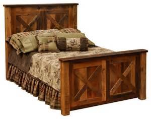 Rustic King Bed Barndoor Reclaimed Wood Barnwood Bed King Size Rustic