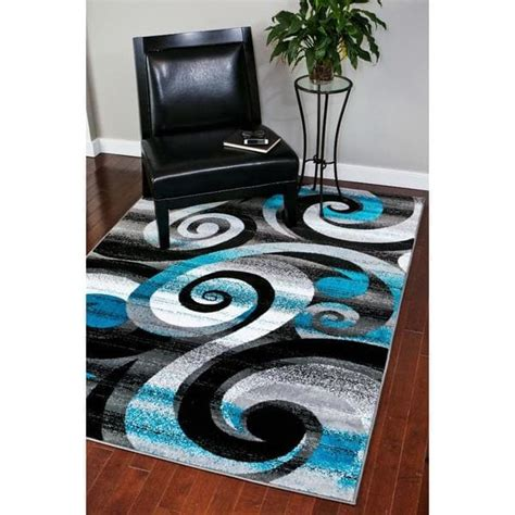 Overstock Rugs Round Persian Rugs Modern Trendz Abstract Turquoise Grey White