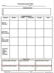 187 printable lesson plan template nuttin but preschool