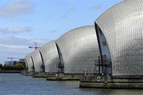 thames barrier article london weather thames barrier shut as coastal surge and