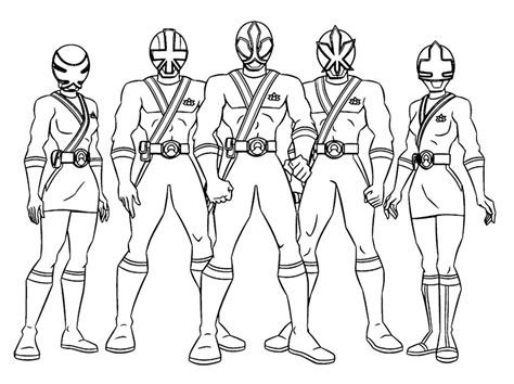 Power Rangers Team Coloring Pages | antonio power ranger free colouring pages