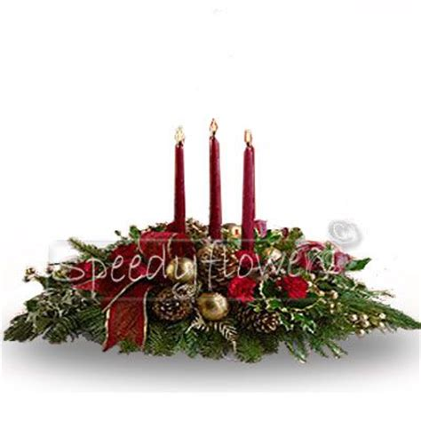 centrotavola natalizi con candele inviare fiori natale spedire fiori natale