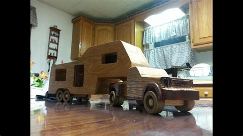 wooden toy ford   truck  camper youtube